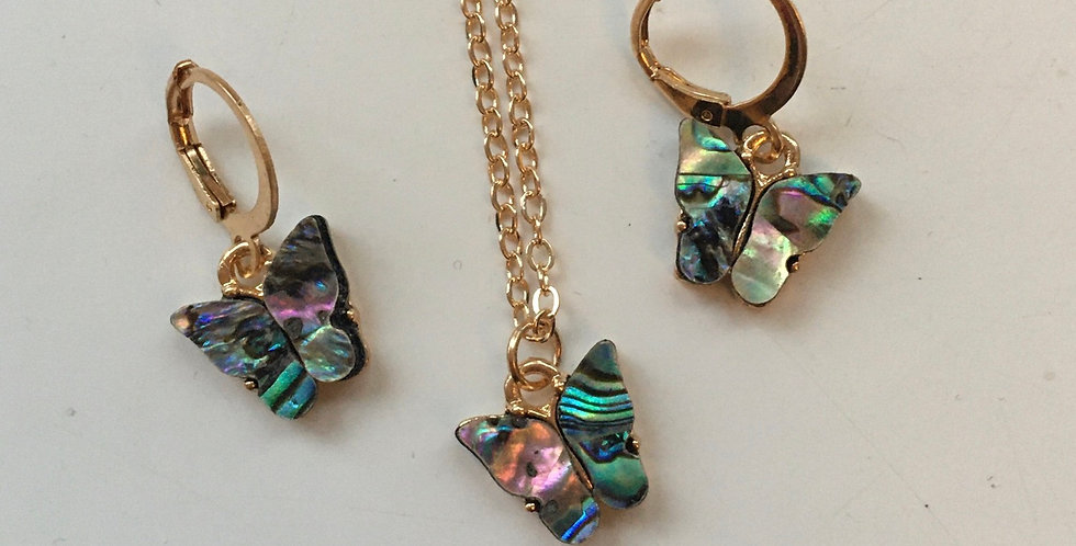 Butterfly Necklace & Earring Set