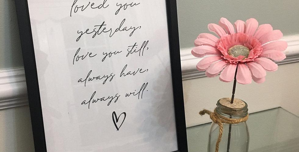 'Love You Always' A4 Print