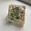 Thumbnail: Baby Blue & Gypsophila 5 Piece Coaster & Holder Set