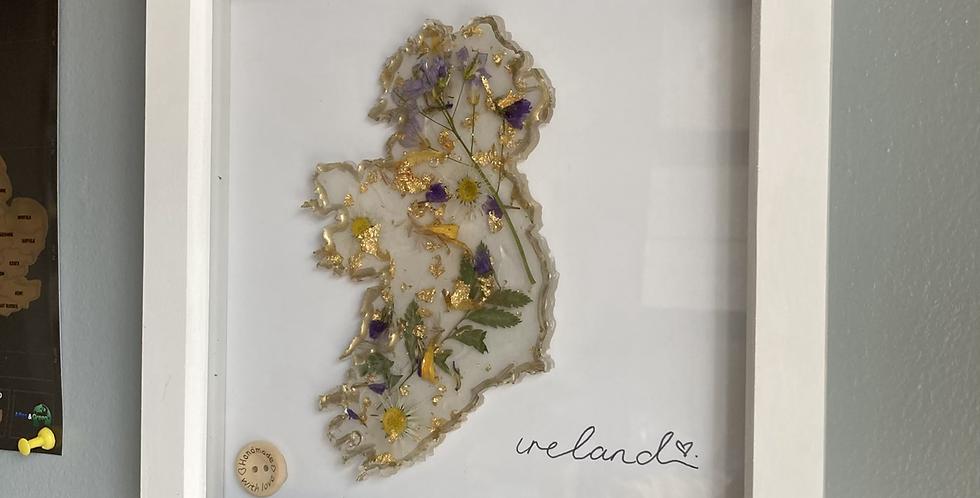 Floral Ireland Frame