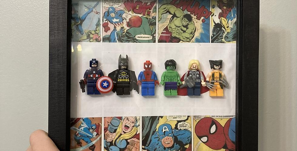 Superhero Lego Figure Frame