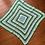 Thumbnail: White, Mint & Dark Green Baby/Pram Blanket