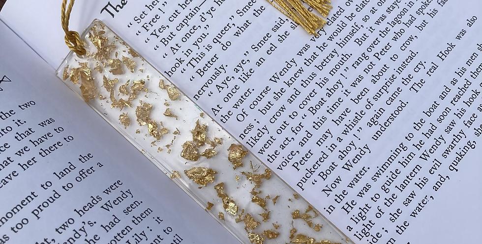 Gold Flake Bookmark
