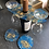 Thumbnail: Wine Glass Holder Set with 2 Matching Coasters
