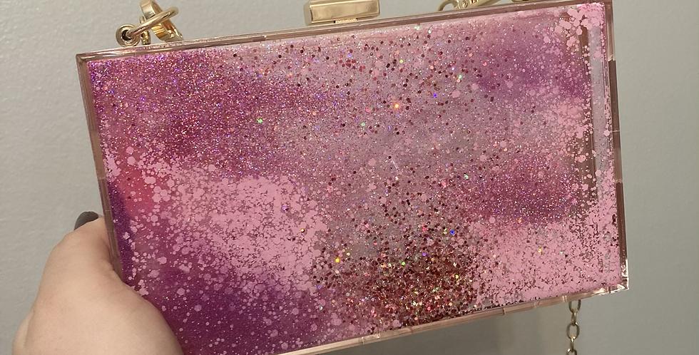 Pink Mix Glitter Clutch
