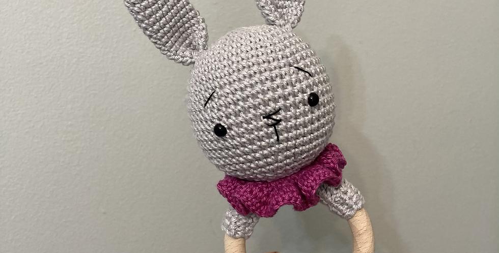 Bunny Crochet Rattle
