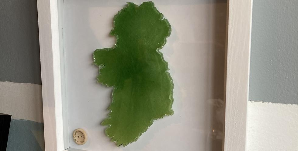 Green Resin Ireland Frame