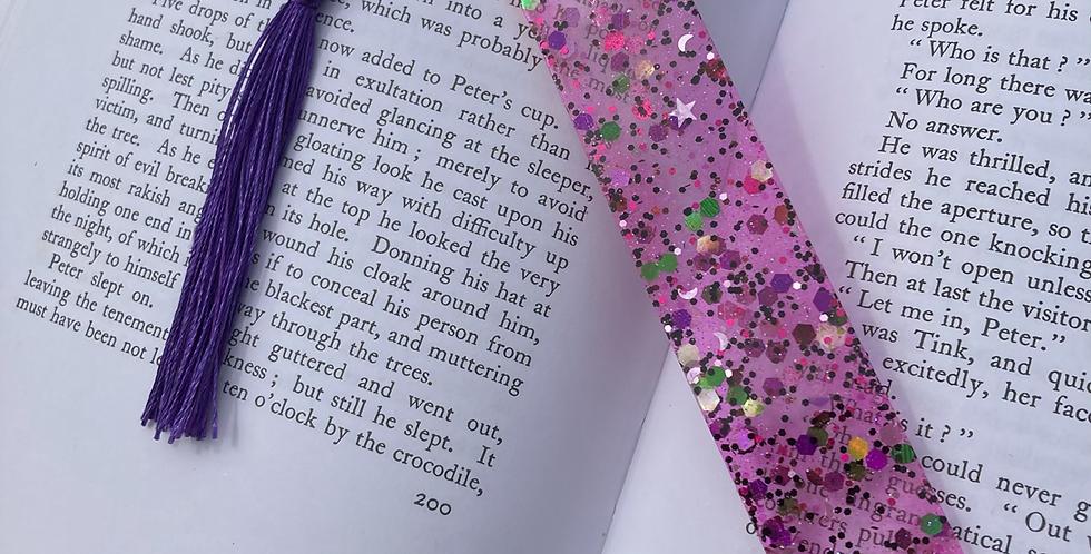 Pink Glitter Mix Bookmark