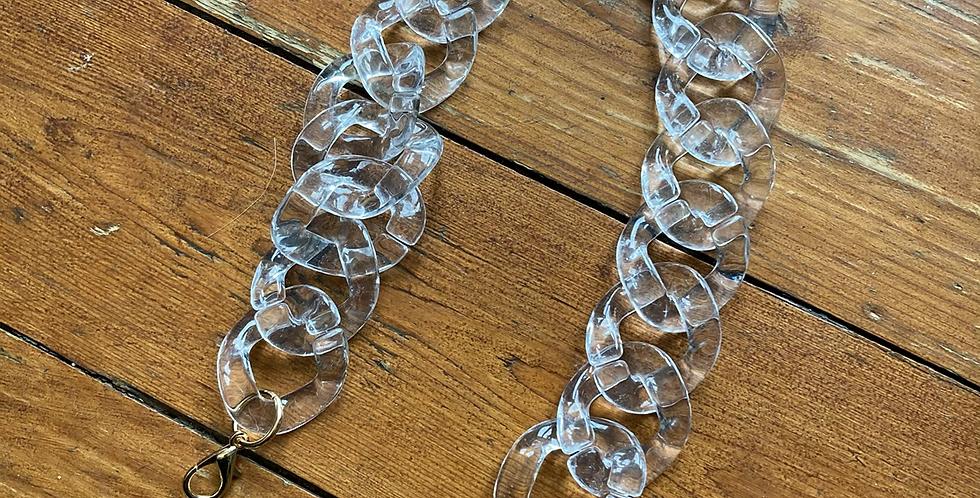 Clear Chunky Chain Handle