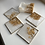 Thumbnail: Pearl & Gold Flake 5 Piece Coaster Set with Holder