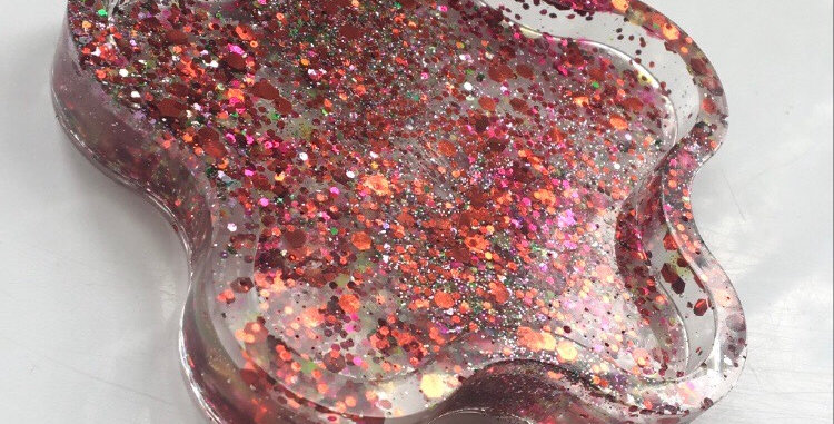 Glitter Floral Trinket T