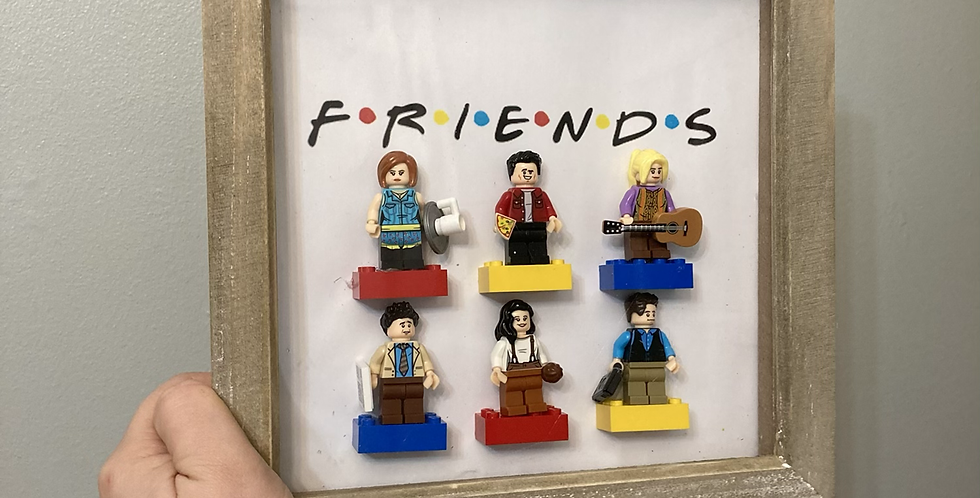 F.R.I.E.N.D.S Lego Figure Frame