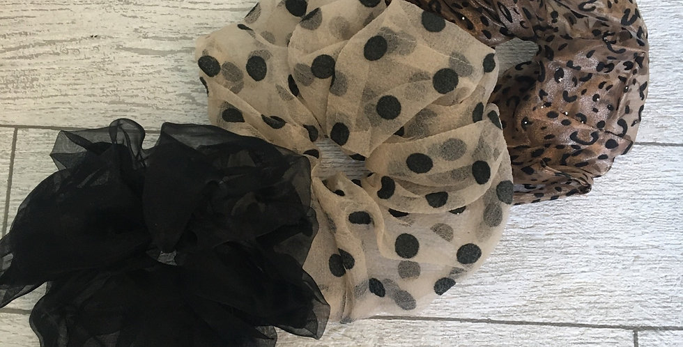 Large Organza Scrunchies