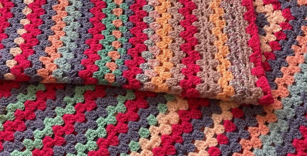 Large Multicoloured Blanket