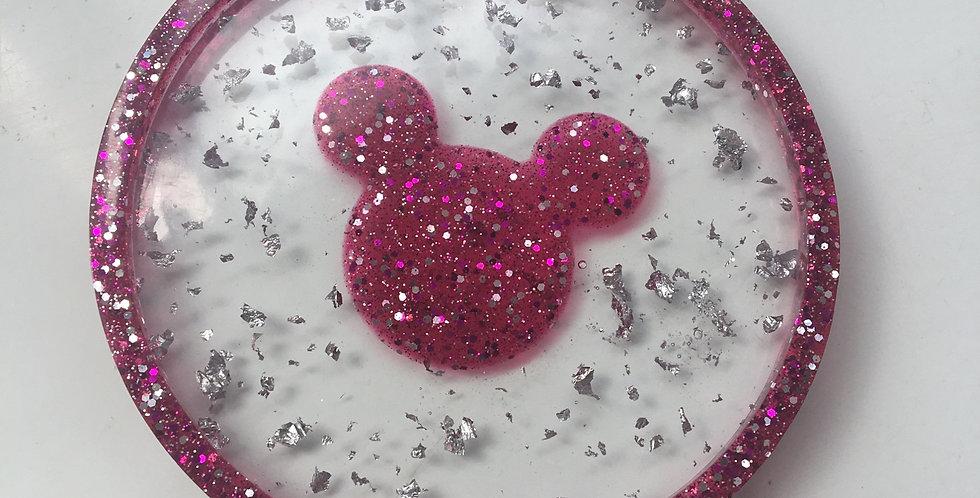 Disney Theme Round Trinket Tray