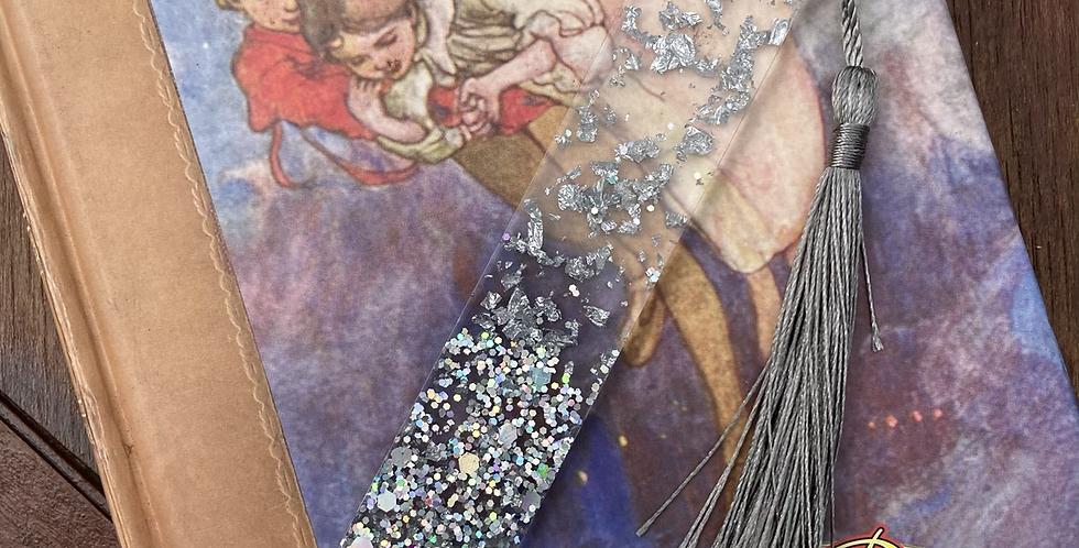 Silver Flake Glitter Bookmark