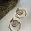 Thumbnail: Resin Gold Flake Hoop Earrings