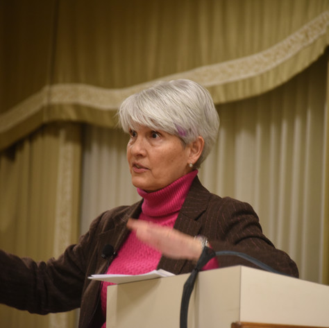 Shelley Rigger delivering the first Rynne Lecture of the 2019 DavidsonLearns winter term. Photo: Bill Giduz