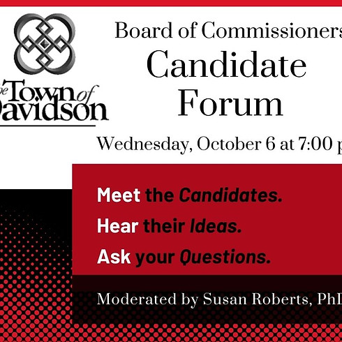 Candidate Forum for the Town of Davidson's Board of Commissioners