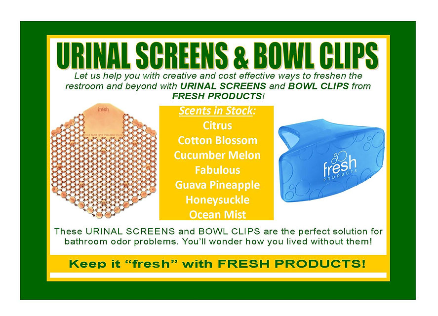 Fresh Products Bowl Clips Urinal Screens