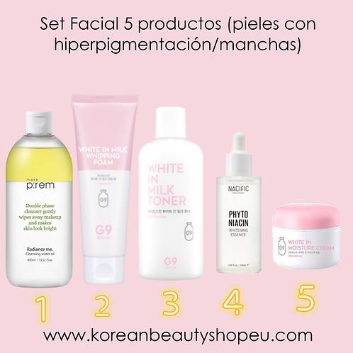 Set Facial 5 productos Pieles Con Hiperpigmentación Manchas
