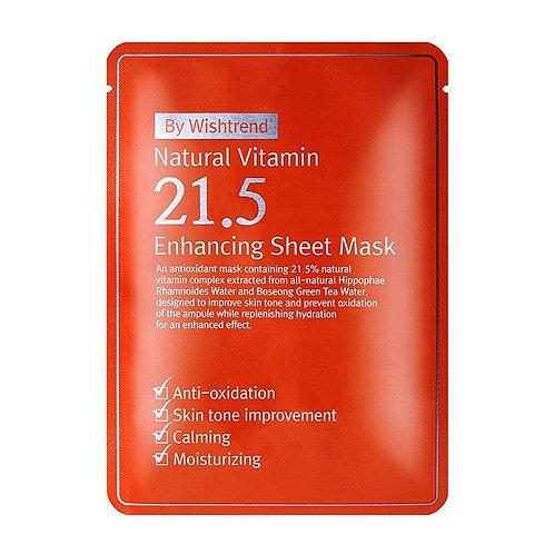 Wishtrend Natural Vitamin 21.5% Enhancing Sheet Mask