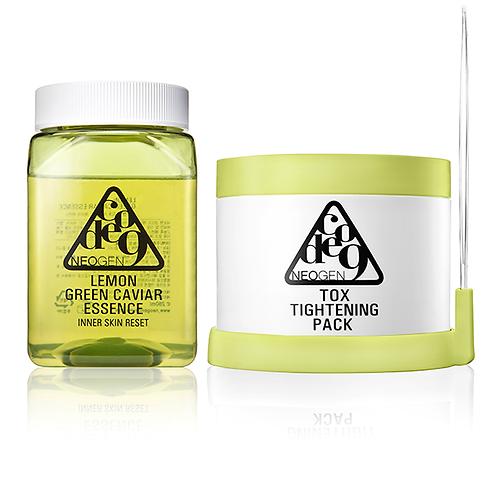 Neogen Code 9 Tox Tightening Pack + Lemon Green Caviar Essence