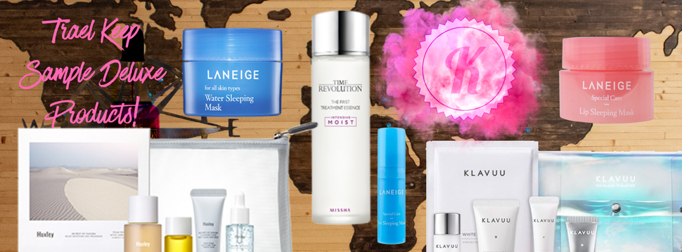 Buy the best travel size beauty kits and travel bags online at Korean Beauty Shop