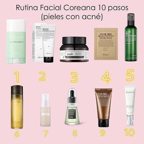Rutina Facial Coreana 10 Pasos (pieles con acné)
