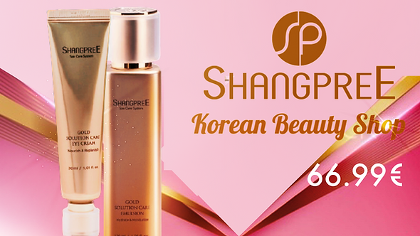 Shangpree Gold Care Emulsion and Eye Cream
