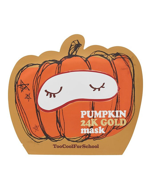 Too Cool For School Pumpkin 24 k Gold Mask