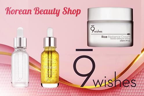 9 Wishes Rice Radiance Cream + 2 Ampollas