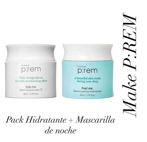 Make P:REM Pack Hidratante + Mascarilla de Noche