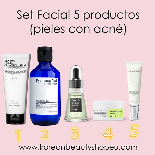 Set Facial 5 productos (pieles con acné)
