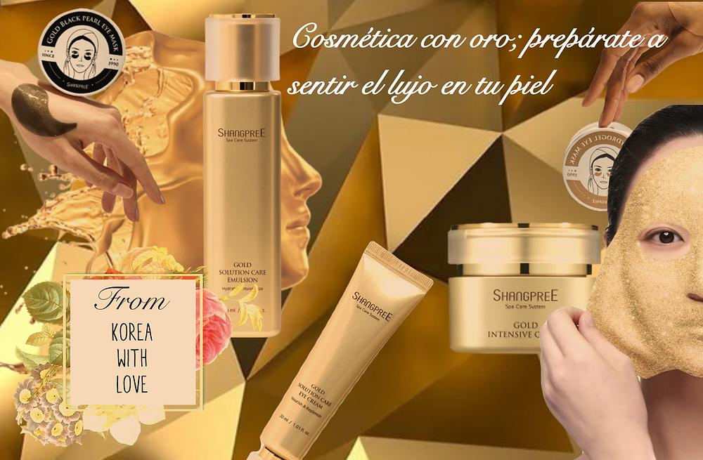 Cosmetica con oro: preparate a sentir el lujo en la piel