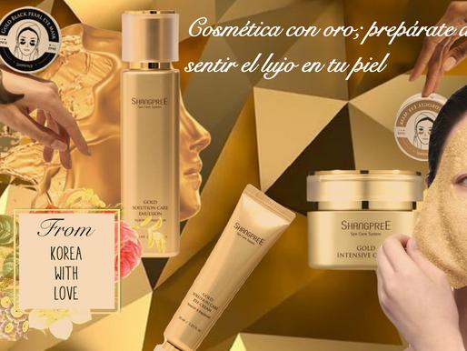 Cosmética con oro; prepárate a sentir el lujo en tu piel