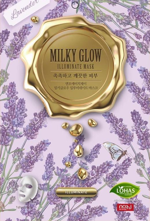 no:hj Milky Glow Sheet Mask Illuminate