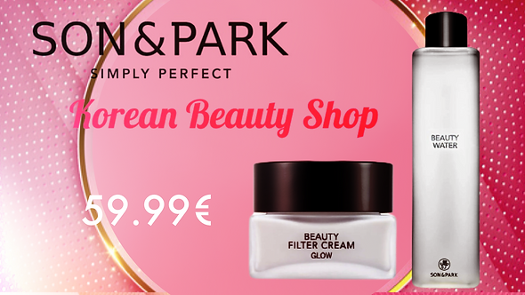 Pack Son Park Beauty Water and Beauty Filter Cream Glow