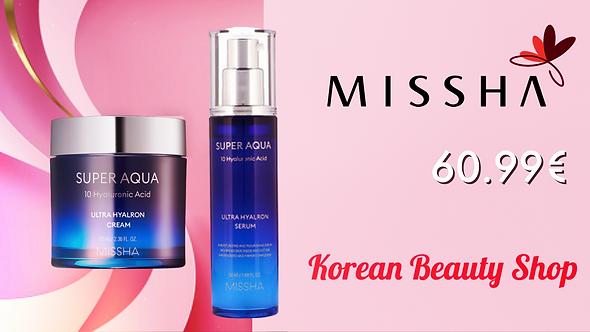 Missha Super Aqua Ultra Hyaluron Cream and Serum