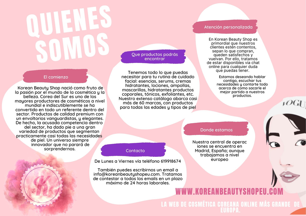 Quienes somos, Korean Beauty Shop
