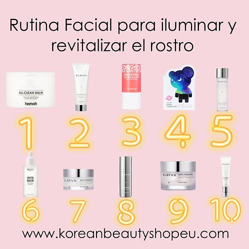 Rutina facial para iluminar y revitalizar el rostro (10 pasos)