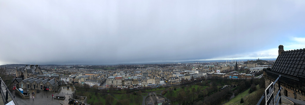 View from Castle Hill in Edinburgh, Scotland