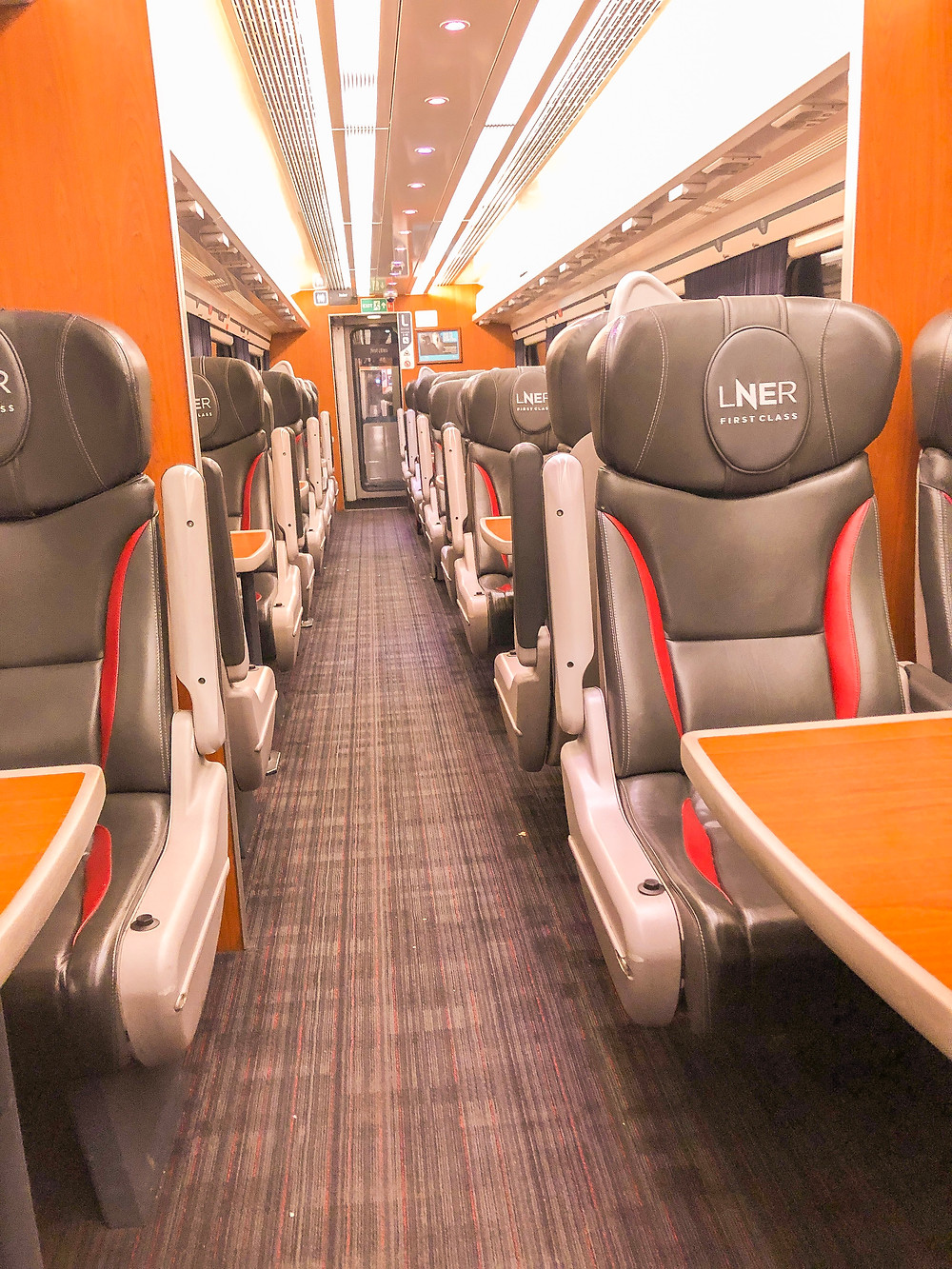 seats in a train carriage