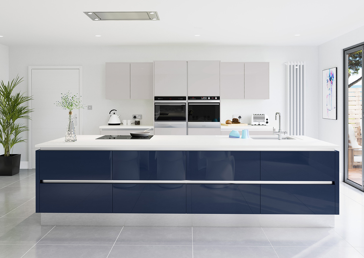 Crown Imperial Furore Midnight Blue Kitchen Units