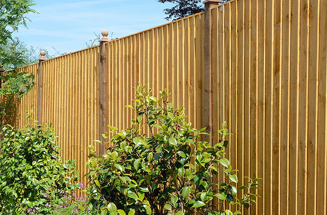 Treated Timber Golden Feather Edge Fence Panel 1829 x 1524mm