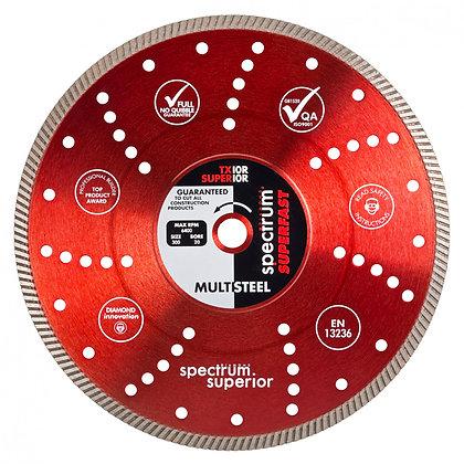 Spectrum Superfast Pro Multi-Steel Diamond Blade TX10R 230mm