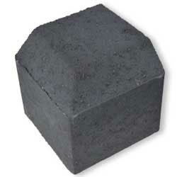 Block Paving Low Kerb External Corner Charcoal