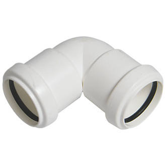Pushfit Waste Knuckle Bend White 40mm