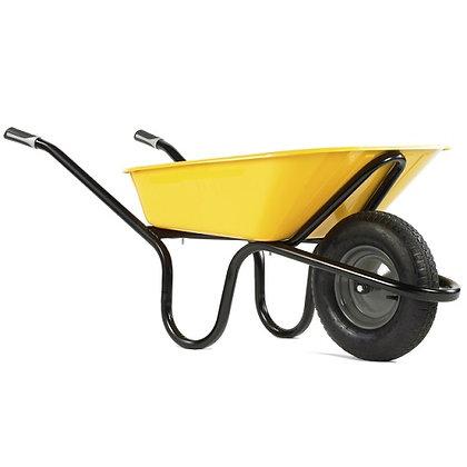 Haemmerlin Alpha Metal Wheelbarrow 120L Yellow Pan
