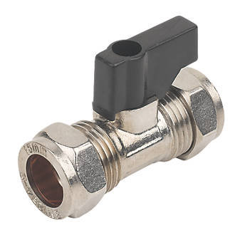 Compression Fit Isolating Valve Chrome with Lever 22mm